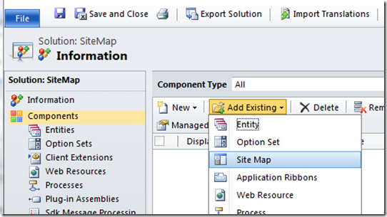 intro to editing the site map in crm 2011 gt crm