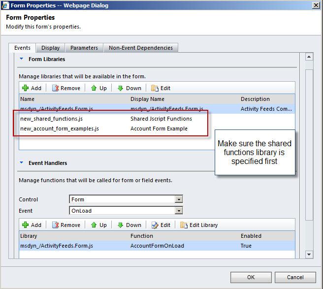 reusable jscript library of common functions for crm 2011